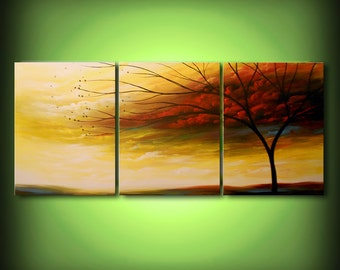 art painting 66 inch quirky surreal wall art wall decor home and living tree painting art acrylic original painting Wall hanging gift