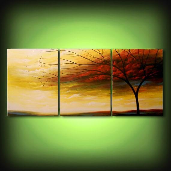 Original painting on canvas, acrylic tree painting, original art, living room wall art, living room wall decor, modern decor, tree of life