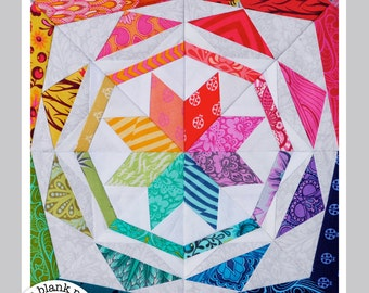 Simple Celestial #229 - 12 inch - Paper Pieced Quilt Pattern