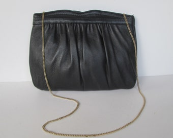 Ande Black Chain Shoulder or Clutch Bag