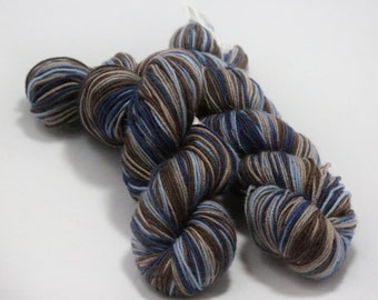 Artyarns Ultramerino 4, Discontinued Destash Yarn, Multicolor Merino Wool, Blues, Brown, Tan Merino, Sock Weight Yarn, Made in America Fiber
