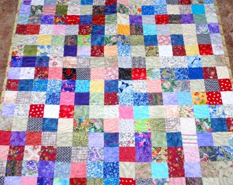 Quilted Multi-Patchwork Quilt