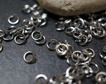 Stainless Steel Jump Rings 6mm x 1mm thick - 50 pcs