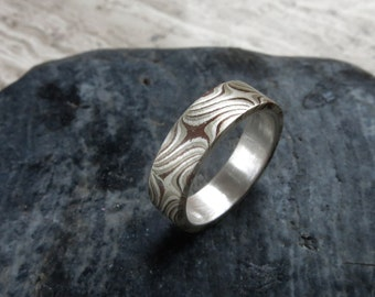 Mokume Gane Ring 5mm size 6