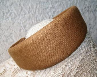 wide tan headband linen fabric