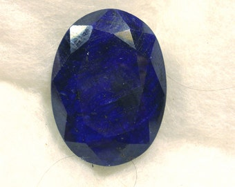 170 carat  ...  faceted sapphire gemstone ... 37 x 27 x 15 MM