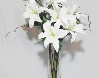 MelroseFields- Casablanca Lily with Curly Willow Arrangement