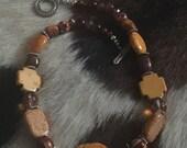 Burnt Orange n Brown Tone Necklace