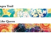 F:chocalo Washi Masking Tape - Hydrangea Trail / Witch-Like Queen - Yu Ikeda