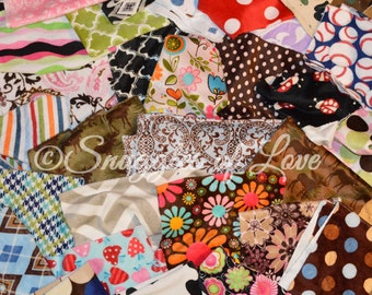 SALE - Printed Minky Destash - Minky Print Fabrics - Plush Minky Fabrics - Printed Minky Scraps - Choose Your Size Box