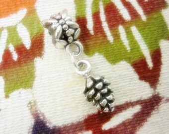Pinecone Add a Charm,Fall, Winter, Holiday Pinecone jewelry,Silver Pinecone charm Pendant