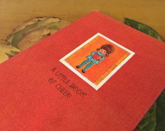 Little Book of Cheer Vintage Hallmark Red Hardcover 1968 Cartoon Flowers