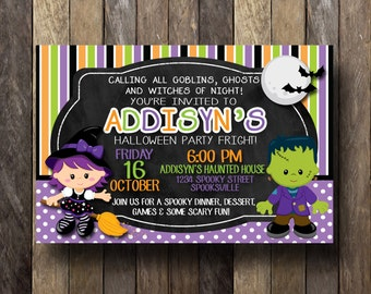 Halloween Invitation, Halloween Invites, Halloween Invitation Printable, Halloween Invitation Kids,Halloween Party Invitation, Party Invite
