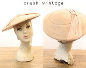 1950s Hat Cartwheel  /  1950s Picture Hat Cathay  /  Picture Perfect Hat