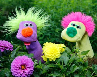 Sockett® Classical Sock Puppets 2 for 30. You Pick Colors