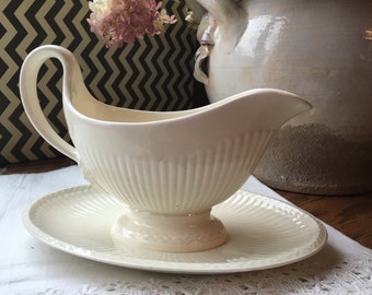 English Wedgwood Gravy Boat and Saucer