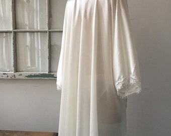 Spring Fling Honeymoon White Silk Charmeuse Robe