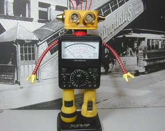 MICRONTA  Found Object  Robot Sculpture Assemblage