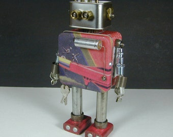 FOSSIL 3  Found Object  Robot Sculpture Assemblage