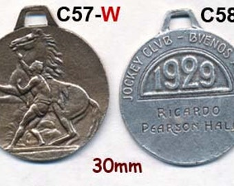 1929 ART DECO MEDAL of Jockey with Horse Argentina cast from Original