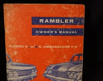 Vintage  1961 American Motors Rambler Owner's Manual