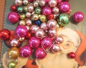 """Vintage Tree Ornaments Lot of 70 miniature ornaments ball shape ornaments 3 sizes 1/2"""" 3/4"""" and 1"""" mix"""