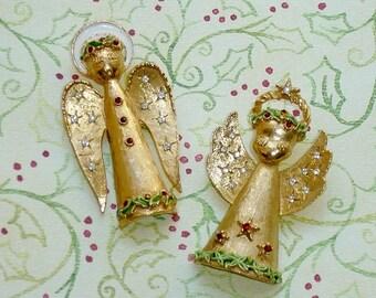 Vintage ART Angel Brooch - LOT 2 - Christmas Angels
