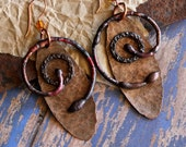 Tribal Jewelry, Primitive, Celtic Earrings