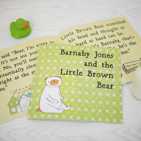 Personalized Children's Gift Book, The Story of Little Brown Bear – Ideal Birthday Gift for Kids, Personalised Kids Book