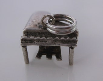 Vintage Sterling Silver Piano Charm