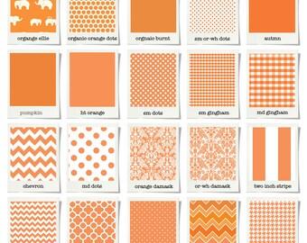 Teething rail guards bumperless crib // Orange // Choose your fabric // Choose your trim