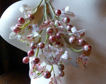 Berry Spray Vintage in Multicolor for Bridal, Boutonnieres, Headpieces, Halos, Wreaths, Bouquets  ML 146