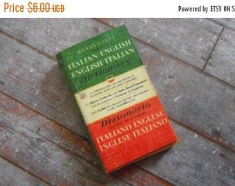 ON SALE Miniature Book --- Italian Dictionary