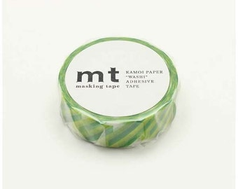 mt deco - crystal green - washi masking tape - 15mm x 10m x 1 roll