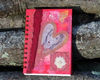 Mixed Media Covered Journal, Beautiful