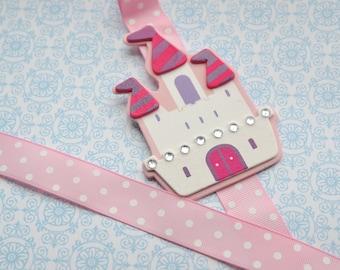 Pink Princess Castle Bowholder