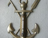 Antique Nautical, Maritime Anchor Thermometer