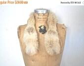 SALE Fox Fur Collar / genuine fur / 1980s