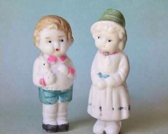 Vintage Bisque Frozen Charlotte Charlie Penny Dolls Japan