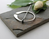 Penannular Brooch Textured Sterling Silver   Celtic brooch