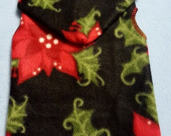 Dog Christmas Poinsettia Snuggly - 3 Sizes