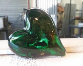 Two-Toned Green Glass Hea...