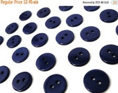 ON SALE Dark blue plastic button - set of 24 small buttons 10mm