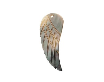 Natural Shell Pendant Angel Wing- 44mm Mother of pearl MOP pendant