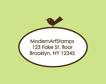 Custom Rubber Stamp   Custom Stamp   Return Address Stamp   Custom Address Stamp   Personalized Stamp   Oval Stamp   Bird Stamp   C54