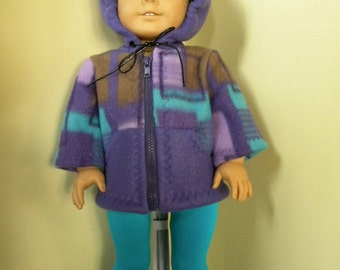 Hoodie with leggings for 18 inch doll