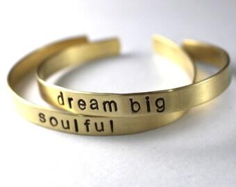 Brass Cuff Bracelet, Word Cuff, Brass Cuff, Custom Copper Cuff, Gifts, Gold Bracelet, Personalized Bracelet, Custom Word Cuff