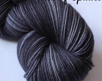 Hand Dyed Semi-Solid Yarn -  SW Merino Sport - 328 yards - Ace of Spades