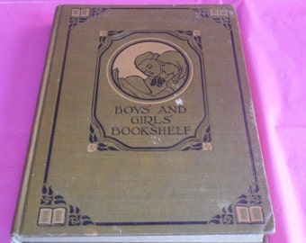 2 DAY SALE Fun an Thought for little Folks BOYS And Girls Bookshelf Book The University Society New York 1912