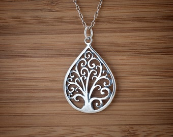 Tree of Life Pendant - STERLING SILVER - (Pendant, Necklace, or Earrings)